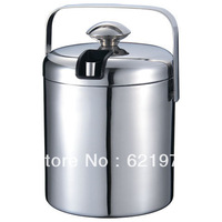 1L, 1 bottle of  Stainless steel 18/8 ( 304) double wall ice bucket  with lid  food grade