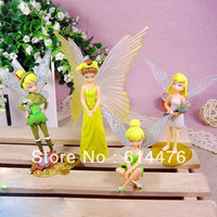 Free shipping 120sets/lot High Quality PVC Tinkerbell Fairy Adorable tinker bell Figures (4pcs/set)