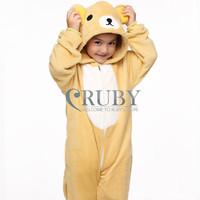 Unisex Children's Fashion Onesies Cosplay Costumes Animal Pajamas Christmas Gift For Kids Cartoon Cute Pyjamas Children,Bear