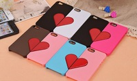 Free shipping red peach shape love love couples shell for iphone 5 couples love shell