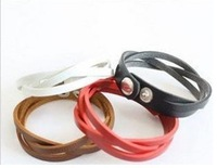 Free Shipping, Fashion Women Men Weave PU leather Charm Bracelets