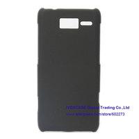 Rubber Hard Coating Skin Case Cover For Motorola Droid RAZR i XT890 / M XT907 Black + Screen Protector +  Wholesale