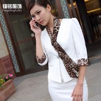 Fashion professional women skirt summer front desk uniform set work wear