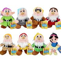 "The Snow White Princess and 8"" Seven Dwarfs Soft plush Doll Toys set (8 pcs set)"