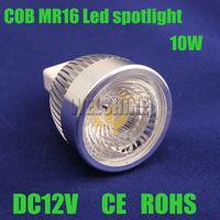 2X 10W dimmable MR16 LED Cob Light LED Bulb Lamp led light fittings led lighting systems size 50X75MM DC12V CE ROHS-035