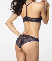 Victoria women lace bra push up sexy lady's underwear Y shape backless  gather bra sets FREE SHIPPING