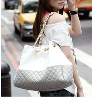 2013DAPHNE Fashion Women's Handbag Two-color Prism Grid Shoulder Bag Women Casual Chain Tote