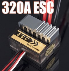 320A ESC Brushed Electric Speed Controller Brush ESC 4.8-7.4V 1/8 1/10 Truck Buggy  FOR HSP 1/10 Exceed AMAX HIMOTO