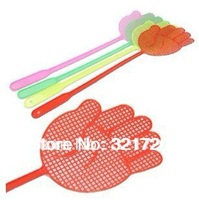 Free shipping (5 pieces/lot) Plastic fly swatter Cheap practical swatters Color random delivery