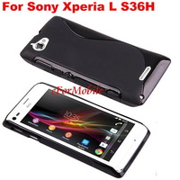 Free Shipping S TPU Skin Case Back Cover Mobile Phone Case  For  Sony Xperia L S36H C2105 C2104