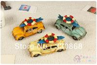 Matal craft beach theme car Home decoration metal craft metal car model vintage decoration classic beetle beach theme car