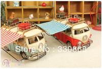 Metal craft VW Van iron model vintage decoration Large camping car gift event props
