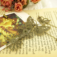 Fashion vintage accessories butterfly long flower design brooch collar needle female