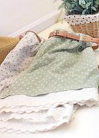 Small fresh sweet vintage polka dot crotch laciness sweep fluid loose casual shorts