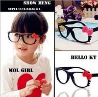Free shipping 10 pcs/lot, Children's glass frame Lovely bowknot adornment of glasses Eyeglass frames for kids Plastic frame