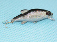 Free Shipping 80mm 12g Fishing Lure Crankbait Hard Bait Fresh Water Shallow Water Bass Fishing Tackle Gray