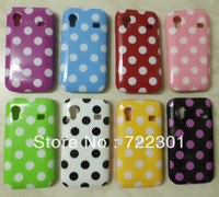 POLKA DOTS TPU GEL CASE COVER FOR THE SAMSUNG GALAXY ACE S5830,FREE SCREEN GUARD,Free Honkong Post air mail