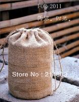 2013  round jute coffee bean drawstring bag for rice    wholesale online shopping  free shipping
