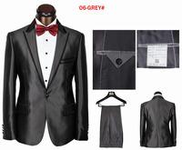 Elegant bow tie fit cut men's suit