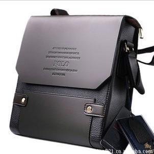 [Free Shipping] New 2014 fashion men messenger handbags genuine leather business bags high quality men handbags M002