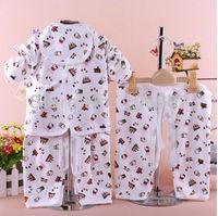 "newborn baby clothing, 4 pcs sets ""1 coat + 2 split pants + 1 bib "" 2 sets/lot,lovely and comfortable 100% cotton,hot selling"