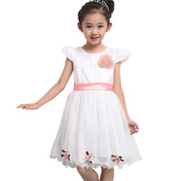 Free shipping new 2013 korean summer children's clothing girls princess dresses ruffle tulle dress