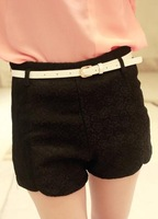 J king 2013 patchwork embroidery fashion lace decorative pattern shorts with belt