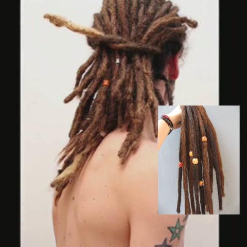 hop dance latin rasta dreadlock linen dark brown soft free shipping