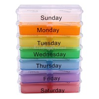 Medicine Weekly Storage Pill 7 Day Tablet Sorter Box Container Case Organizer K5