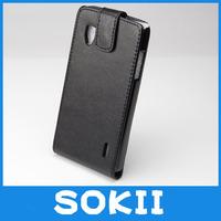 50pcs/lot For LG E973 flip leather case