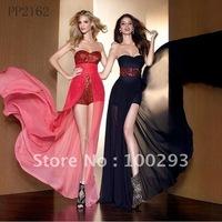 PP2162 Wholesale Free Shipping Beaded Long Chiffon Evening Dress 2012
