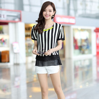 Soft 2013 short-sleeve dress slim
