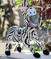 Free shipping! Hot sale Super Cute Madagascar plush zebra Marty, stuffed zebra toy, nice gift for kids, take it home now!