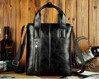 ZEFER male  leather fashion casual travel business brief case portfolio shoulder messenger tote bag