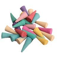 25 Mix Stowage Colorful Fragrance Triple Scent Incense Cones Potpourri #1JT