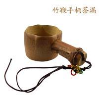 Natural bamboo tea strainers bamboo tea filter hemp filter bamboo zhugen rhizome knopper Coffee spoon