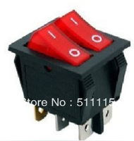 Double Rocker Switch KCD8-212 Red / Green
