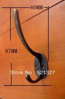 Antique alloy hook  coat hooks cupboard bronze hook 97 * 60MM