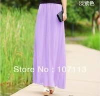 Bohemian elegance temperament pleated skirt+Free shipping