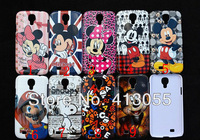 Wholesale 10pcs/lot&free shipping Cartoon Mickey design Hard Plastic Case Skin Cover For Samsung Galaxy S4 SIV i9500 Promotion