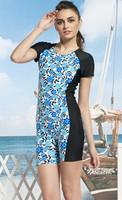 Swimwear short-sleeve one piece fashion sports boxer swimwear kb11052