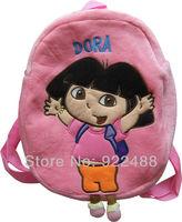 FreeShipping New Cute Dora the Explorer Kids Children 3D Plush School Bags Backpack