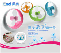 Free shipping 10 pcs/lot, Wholesale USB min fan NEW design USB Desktop fan Cute novelty mini fan USB gifts Random color delivery