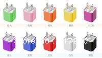 FREE SHIPPING Colorful USA USB wall Charger  FOR  iphone 4 4s 3G 3GS SAMSUNG NOKIA BLACKBERRY HTC OTHER MICRO USB CELL PHONES