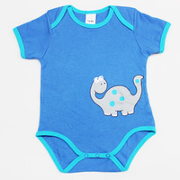 3pcs/lot Infant bodysuit with short sleeves for baby boy 2014 summer fashion size 3M-18M cotton  blue   #16580B Free Shipping