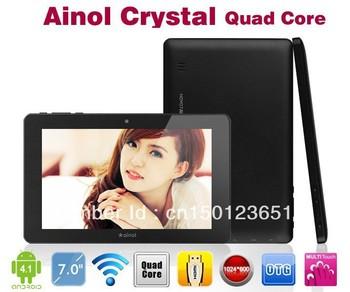 2013 Ainol novo7 Crystal quad core tablet pc android 4.1 1GB DDR3 /8GB hdmi wifi camera