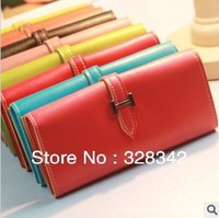 Free shipping Korean kissme version of pure color cell phone bag zero wallet card bag ladies classic long wallet