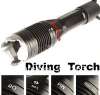 Free DHL/FEDEX,10PCS Trustfire J1  4 Mode 1000 Lumen CREE XM-L XML T6 LED Flashlight Waterproof  Underwater Diving Flashlight