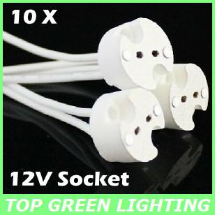Free Shipping 10 x LED Light Bulb Lamp Socket for LED MR16/GU5.3/MR11