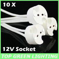 Free Shipping 10 x LED Light Bulb Lamp Socket for LED MR16/GU5.3/MR11/G4/GX53 Base Lamp Holder 12V Connector